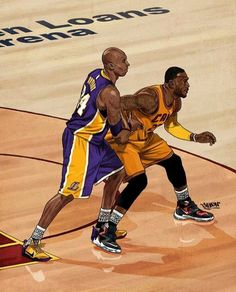 Kobe Bryant versus LeBron James in Cleveland.