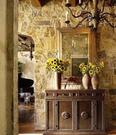 There are some characteristics of Spanish Style haciendas that you may be able to replicate without bull dozing your home. Tips and Ideas by Indeed Decor.