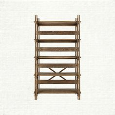 """Shop the Larson Collection at Arhaus. Build this, shorter and not so deep for dining room.  Add the """"x"""" to each back section"""