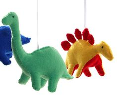 Dinosaur Mobile  Felt Dinosaur Nursery Mobile by DominiquesOnline