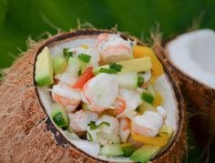 This is my absolute favorite ceviche. Angela makes it for parties and I always park myself at the bowl. From MauiFlourChild.com