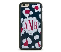 Wild Red Monogram Personalized iPhone Case, Monogram Personalized Galaxy Case