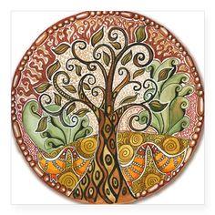 Jessica Sporn Designs: Taking it to the Second Floor Mandala Art Tree Of Life Art, Tree Art, Mandalas Painting, Celtic Tree, Mosaic Art, Rock Art, Painted Rocks, Artsy, Abstract