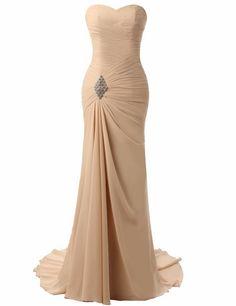 Champagne Evening Dresses Robe De Soiree Mermaid Pleat #prom #promdress #dress #eveningdress #evening #fashion #love #shopping #art #dress #women #mermaid #SEXY #SexyGirl #PromDresses