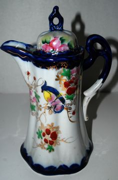 Nippon chocolate pot/coffee pot with lid hand от capecodgypsy
