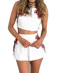 Special Offer: $21.99 amazon.com Feature: Gender: Women Style: Casual Material: Cotton Item Type: Crop Top Shorts Set Occasion: Beach, Party, Club, Summer Package Included: 1 X Piece Top 1 X Piece Shorts Purchasing Note: 1.Please allows 0.5 inch error due to manual measurement. 2.Color...