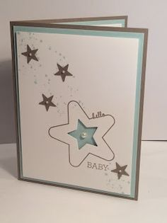 Hello Baby, baby card, Gorgeous Grunge, You're So Sweet, Crazy About You, Stampin' Up!