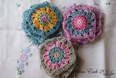 The beginning of a love affair with granny circles/squares!