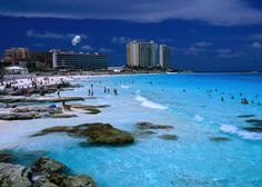 Best public beaches in Cancun. Safe Cancun swimming beaches are Blue Flag rated beaches in Cancun. Cancun is one of the best beach vacation destinations in Mexico! Cancun Mexico, Cozumel, Mexico Vacation, Vacation Places, Vacation Destinations, Dream Vacations, Vacation Spots, Places To Travel, Cancun Vacation