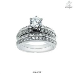 2-Piece Set: Lauren Lee Silver Wedding Rings - Summer Collection at 92% Savings off Retail!