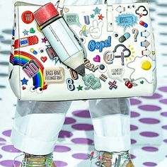 The best of #LFW, Anya Hindmarch sticker bag!  (the picture isn't mine)   Use Instagram online! Websta is the Best Instagram Web Viewer!