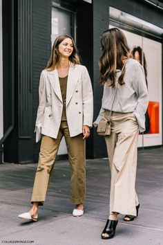 love the coordinated outfits in khaki and neutral colors (especially that cream blazer) — curated by ajaedmond.com | capsule wardrobe | minimal chic | minimalist style | minimalist fashion | minimalist  wardrobe | back to basics fashion