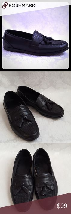 MENS 11 EE Black Leather Loafer Dressabout Classic Dressabout men's black leather loafer with tassels. Size 11 EE.   Very good used condition. Smoke free and pet free home.    Check out my other listings - 100's of 👠shoes👠, 👢boots👢 and 👜bags👜. Bundle 2 or more and save money!💲💵💲 Dressabout Shoes Loafers & Slip-Ons