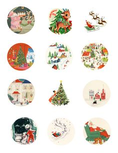 Free Printable Vintage Christmas Gift Tags - My So Called Crafty Life Diy Christmas Tags, Christmas Tags Printable, Noel Christmas, Retro Christmas, Christmas Crafts, Christmas Tables, Nordic Christmas, Modern Christmas, Christmas Stockings