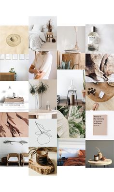 minimal, luxe, boho, natural, organic, apothecary, slow living and tropical inspired moodboard created for a client branding strategy proposal. #moodboard #branding #strategy #designstudio #graphicdesigner