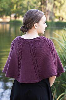 Ravelry: Longwood Capelet pattern by Cheryl Beckerich Knitted Cape Pattern, Knitted Capelet, Poncho Knitting Patterns, Knit Shrug, Shawl Patterns, Crochet Poncho, Knit Or Crochet, Knitting Designs, Poncho Shawl