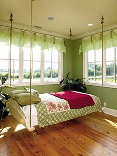 great swinging bed!