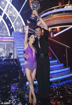 King and queen of the ballroom: Meryl Davis and Maksim won the Mirror Ball after being cro...