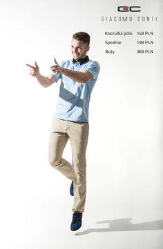 Stylizacja Giacomo Conti: Koszulka polo BASILIO 15/13C, Spodnie ABRAMO 15/43 T, Buty GSP-111.