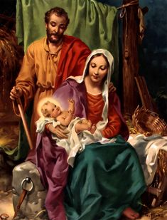 Lord Jesus Christ, Virgin Mary - His Holy Mother & St. Joseph
