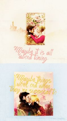 """Maybe it is all about timing, maybe things work out when they supposed to"" #Captainswan"