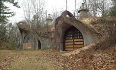 """""""The """"Mushroom House"""". This is actually in Fish Creek, a little north of the Sturg, and it's pretty awesome. The story goes that some architect built it years ago / The Green Life <3"""