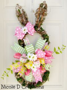 Easter Wreath Easter Front Door Wreath by FestivalofWreaths ...