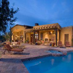 mediterranean pool by Mooney Design Group, Inc.
