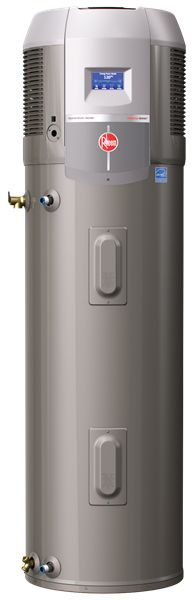 Rheem Hybrid Heat Pump Series.  According to Consumer Reports, this water heater is more efficient than solar and/or tankless.