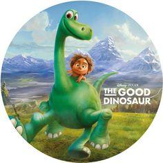 The Good Dinosaur Sugar Plaque - Arlo & Spot Mountains Le Voyage D'arlo, Arlo Und Spot, Dinosaur Printables, The Good Dinosaur, Hand Painted Ornaments, Dinosaur Party, Decoupage, Decoration, Disney Pixar
