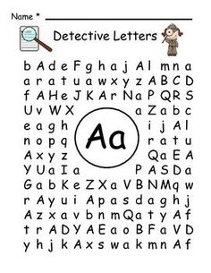 find a letter letter detective by robinson tpt free printable visual search alphabet page great for 335