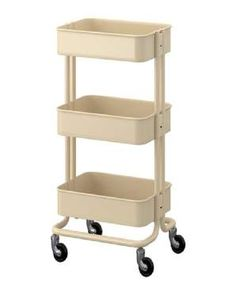 BUY IKEA: RÅSKOG UTILITY CART  Price: $25  Owners have high praise for the rolling, three-tiered Råskog cart. They say the powder-coated steel is surprisingly strong for the price, and the cart is versatile enough to be used practically anywhere -- a small bathroom, a playroom, a craft room, or anywhere else that needs some additional organization.