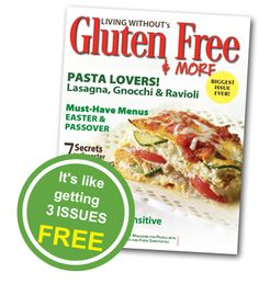 Subscription SAVINGS! Gluten Free & More Magazine #celiac #glutenfree #savings #coupon