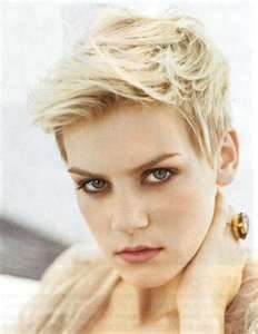 -Very Short Cute Blonde Pixie Haircut Pictures Styled Two Different ...