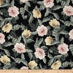 W. Morris Floral Black