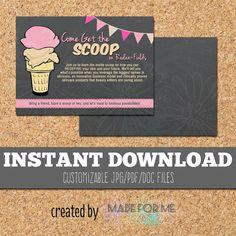 INSTANT DOWNLOAD  Printable Party Invites  4x6 by MADEforMEshop Rodan+Fields Skinvitation Invitation