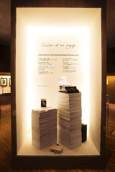Louis Vuitton's Pop up exhibit L'Ecriture est un Voyage in the Saint-Germain-des-Près district of Paris.
