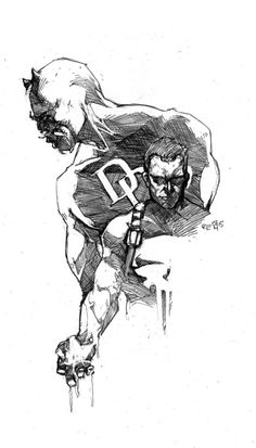 The Punisher and Daredevil by Ariela Kristantina