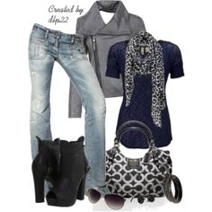 Navy and gray by tami