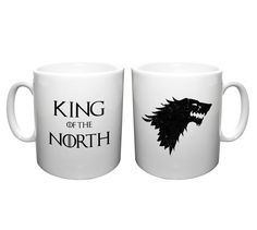 King of the North Game of Thrones inspired ceramic Mug Coffee Cup