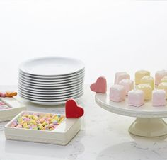 Brand new serving pieces from Nora Fleming - a pedestal server and a candy dish/cocktail napkin holder