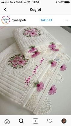 Needlework Models The most recent models Needlework Models The latest models Needlework samples, cheesecloth, scrub, Towel Embroidery, Embroidered Towels, Silk Ribbon Embroidery, Cross Stitch Flowers, Cross Stitch Patterns, Crochet Patterns, Personalized Towels, Towel Set, Belle Photo