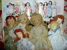 Delightful-original-early-1938-vintage-Edith-Flack-Ackley-handmade-cloth-doll