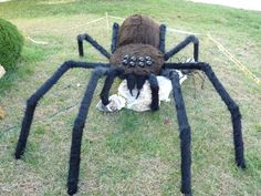 giant spider prop homemade giant 10 spider prop made in 2010 halloween