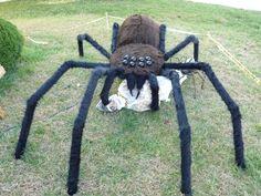 giant spider prop homemade giant 10 spider prop made in 2010 halloween - Giant Spider Halloween Decoration