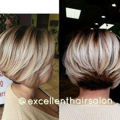 Layered Bob Haircut for Short Thick Hair.  I wish I could get my hair to do this. So cute!