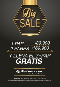 Big SALE #Primavera / Alamedas Centro Comercial #Piensaenti