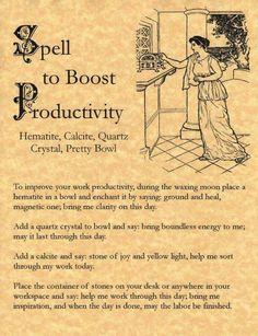 Productivity Spell ..