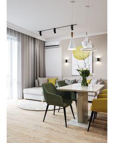 Scandinavian Dining Room Design: Ideas & Inspiration - Di Home Design Living Room Colors, Living Room Modern, Home Living Room, Living Room Decor, Apartment Interior, Interior Design Living Room, Living Room Designs, Kitchen Room Design, Trendy Home