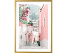 Positano wall art Pastel Home Decor, Pastel House, Unique Wall Art, Pastel Art, Typography Art, Canvas Art Prints, Trending Outfits, Group, Inspiration